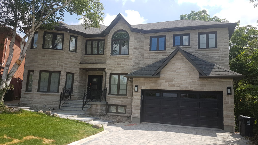 New exterior for a custom home in Greater Toronto Area