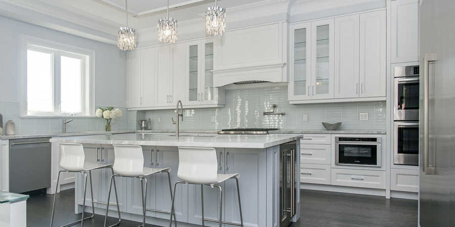 Kitchen design for a custom home