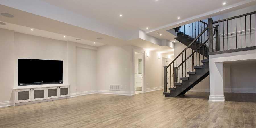 Black Pearl custom home basement design