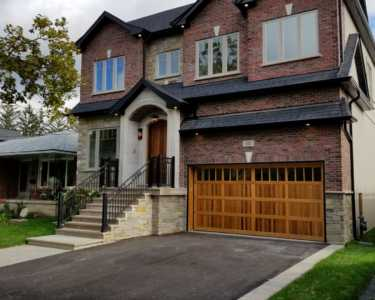 Exterior for a custom home in west Toronto