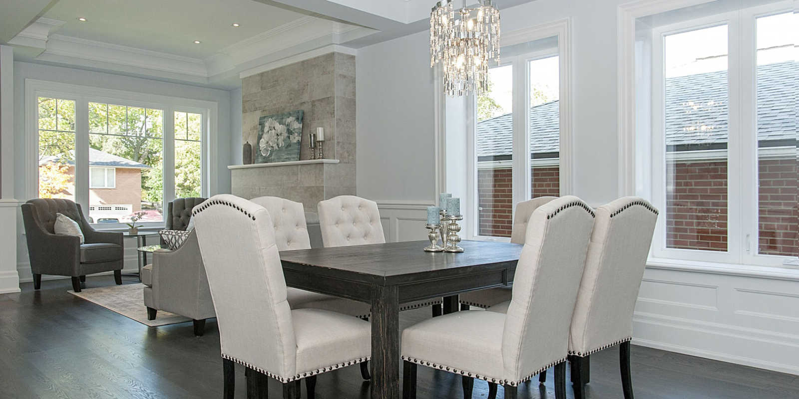 Dining room design by custom home experts