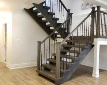Stairs design by Black Pearl custom homes