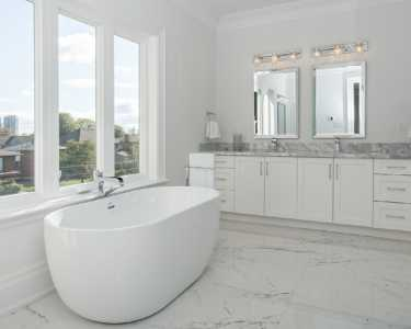 Custom marble bath design