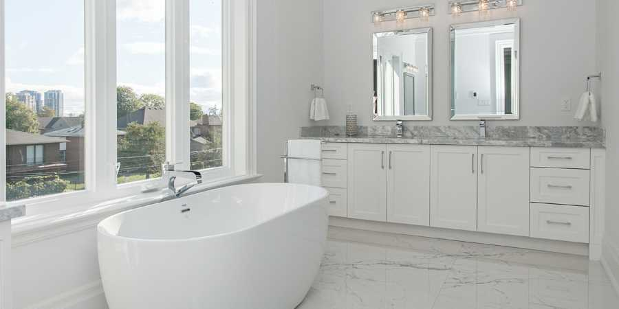 Custom marble bath design