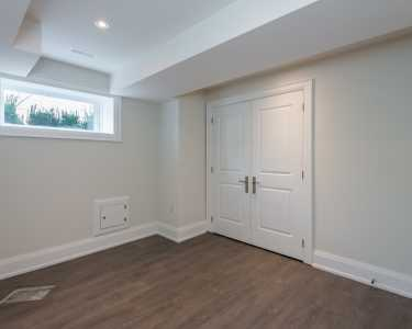 Basement design by Black Pearl custom homes in North York