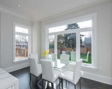 North York custom home dining room
