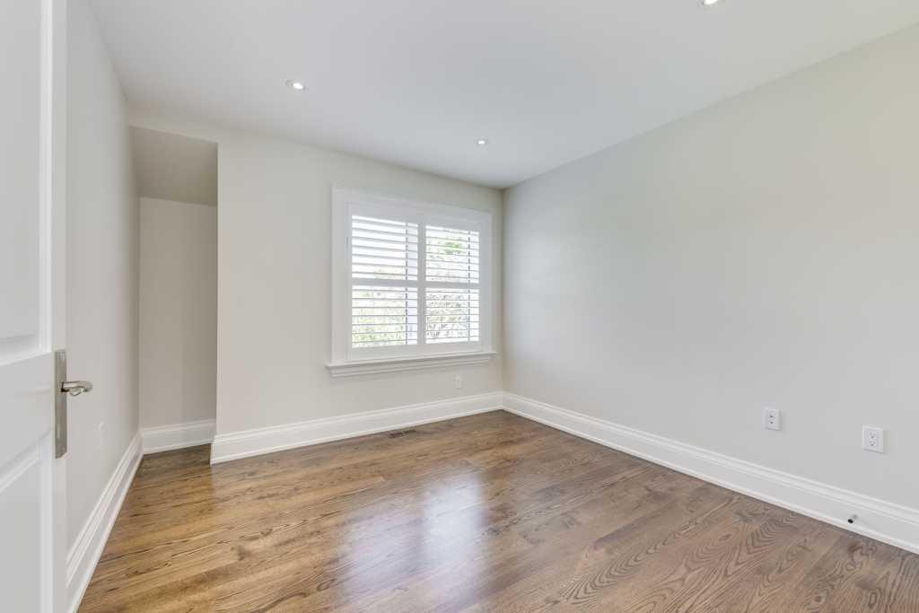 custom home bedroom with 2nd floor view