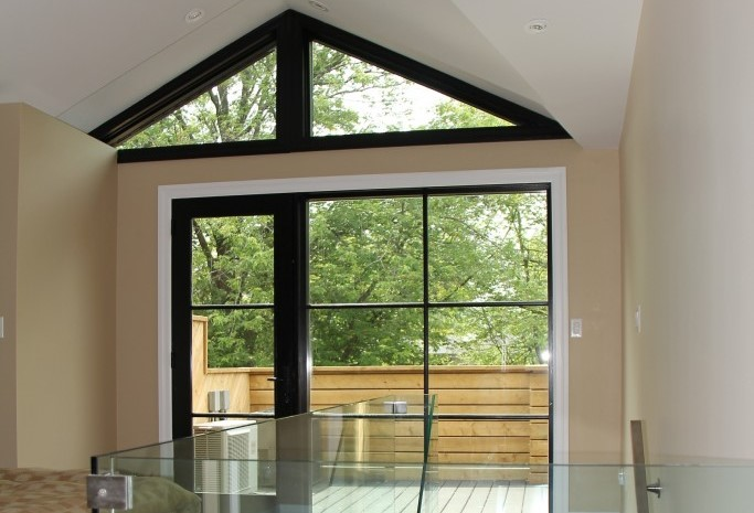 interior of sunroom addition by black pearl