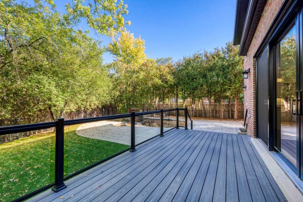 stunting backyard of custom home - custom home builder toronto