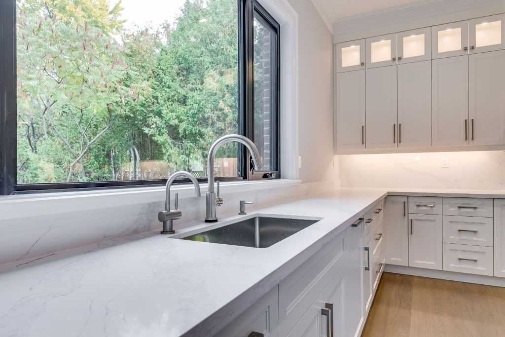 kitchen faucet and sink in amazing custom kitchen