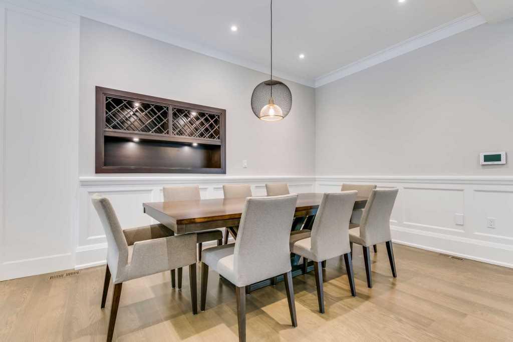 Build in Wine Shelves in Custom Dining Room - Home Renovation Oakville