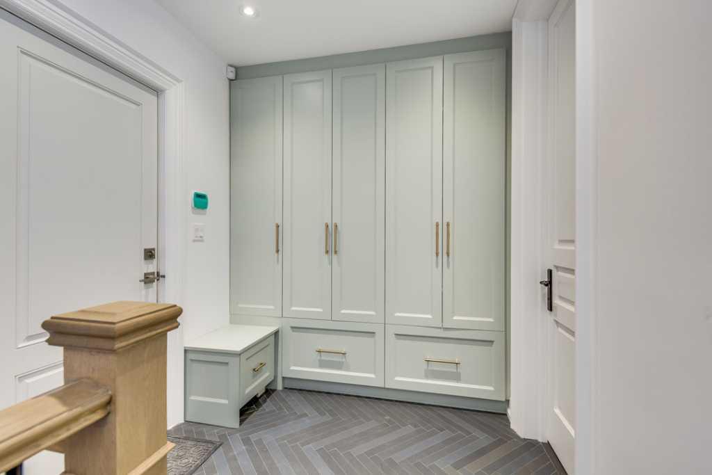 Wardrobe Locker Design by Black Pearl Custom Homes in Etobicoke