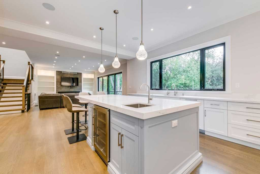 Amazing Kitchen and Family Room in Custom Home Etobicoke